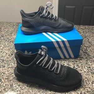 Adidas men's black Tubular Shadow sneakers